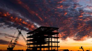 photo of structural steel during el paso sunset